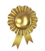 Blank award ribbon rosette, 3d — Stock Photo