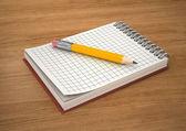 блокнот и карандаш — Стоковое фото