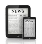 Libro giornale dal tablet pc. — Foto Stock