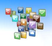 Cloud of program icons — Stock Photo