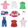 Collection of children's clothes — Stock Photo #37751685