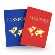 Two passports isolated — Stock Photo #39655945
