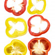 Set of sliced red, yellow bell pepper — Stock Photo #40317635