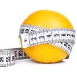 Orange fruit with tape measure — Stock Photo #40317653