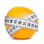 Orange fruit with tape measure — Stock Photo #40317671