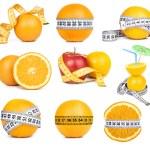 Orange fruit and tape measure — Stock Photo #40317675