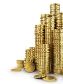 Stack of golden coins. — Stock Photo