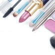Close up view of make up objects — Stock Photo