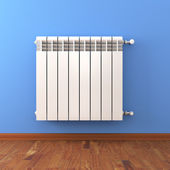 Close-up of home radiator — Stock Photo