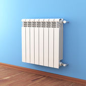 Close-up of home radiator — Foto Stock