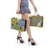 Woman with hopping bags — Photo