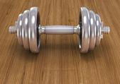 Dumbbell fitness için — Stok fotoğraf
