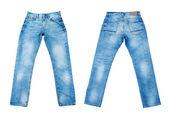 Blue jeans isolato — Foto Stock