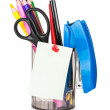 Cup with pens and pencils — Stock Photo #47112959
