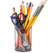 Cup with pens and pencils — Stock Photo #47112993