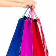 Shopping bags in woman's hand — Stock Photo #47114531