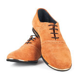 Brown suede shoes — Stock Photo