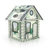 House Made of Cash Money — Stock Photo