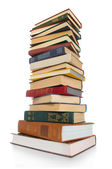 Antique books Stack — Stock Photo