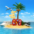 Desert tropical island Concept — Stock Photo #48521683