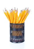 Bleistifte in tasse — Stockfoto