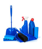 Set of blue detergent — Stock Photo