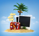 Desert tropical island — Stock Photo