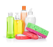 Household chemical cleansers — Stock Photo