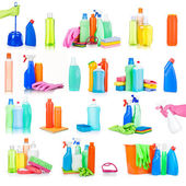 Cleaning and sanitation products — Stock Photo