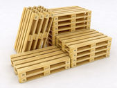 Group of Pallets — Stock Photo