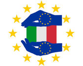 European Help for Italy — Stock Photo