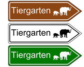 Direction sign zoo — Stock Photo
