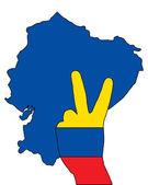 Ecuador hand signal — Stock Vector