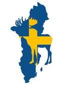 Swedish moose — Stock Vector