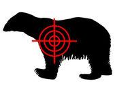 Polar bear crosshair — Stock Vector