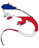 Iguana Costa Rica — Vetor de Stock