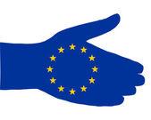 Stretta di mano europea — Vettoriale Stock