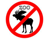 Moose in zoo prohibited — Stock Vector