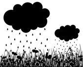 Rainy weather — Stock Vector