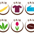 Fair trade products — Stock Vector