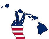Hawaiian hand signal — Stockvektor