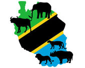 Big Five Tanzania — Stock Vector