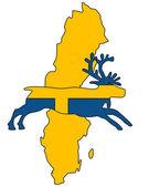 Zweedse rendieren — Stockvector