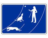 Verkeersbord voor honden — Stockvector