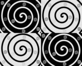 Details of spirals on black and white backgrounds — Stock Vector