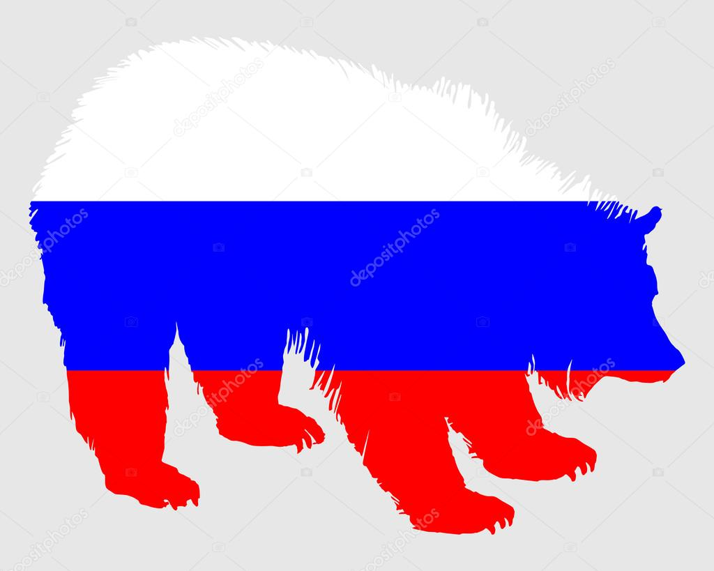 Флаг россии с медведем