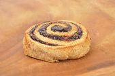 Spiral haşhaşlı kurabiye — Stok fotoğraf