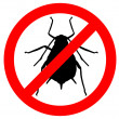Aphid prohibition sign — Stock Vector #48389635