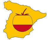 Španělský rajčatová — Stock vektor