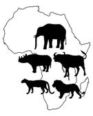 Africa Big Five — Stock Vector